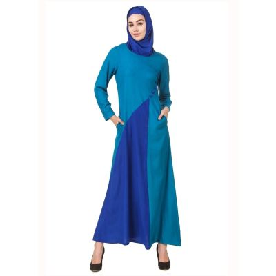 Womens Abaya Blue Color Fancy