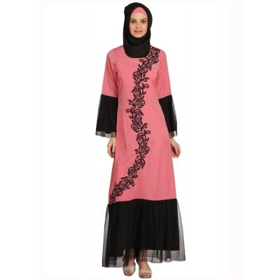 Womens Abaya Black Color Rubiya