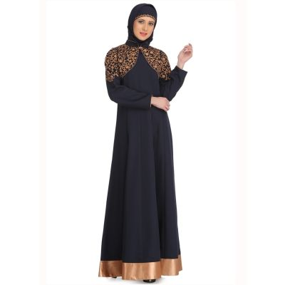 Womens Abaya Blue Color Casual wear