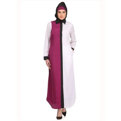 Womens Abaya White Color Evening Dress