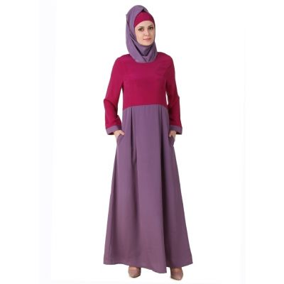 Womens Abaya Purple Color Long