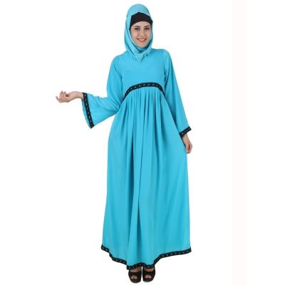Womens Abaya Turquoise Color Muskan