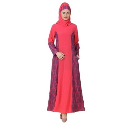 Womens Abaya Pink Color Flamboyant