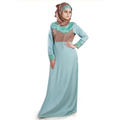 Womens Abaya Brown Color Fancy