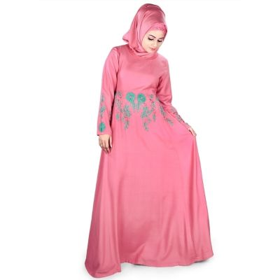 Womens Abaya Pink Color Formal