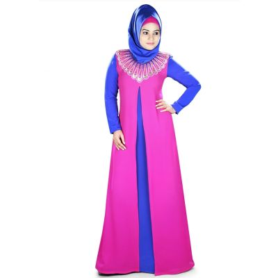 Womens Abaya Blue Color Beautiful