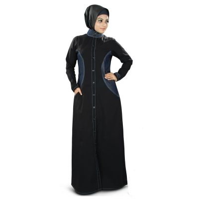 Womens Abaya Black Color Long