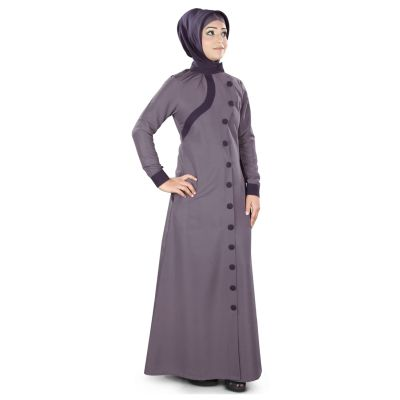 Womens Abaya Purple Color Flamboyant