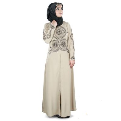 Womens Abaya Beige Color Muskan