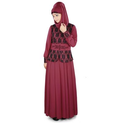 Womens Abaya Pink Color Casual wear