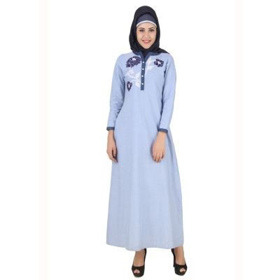 Womens Abaya Blue Color Attractive