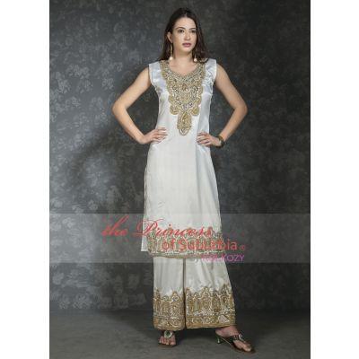 Pretty White designer handbeaded dress