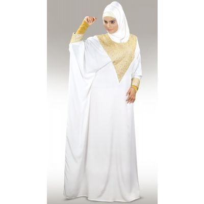 Womens Abaya White Color Grand Walidah