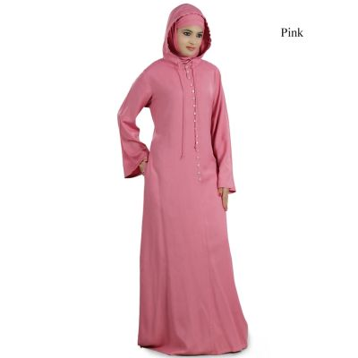 Womens Abaya Pink Color Attractive