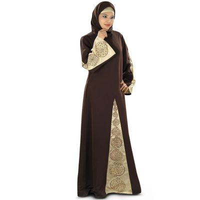 Womens Abaya Brown Color Daily wear