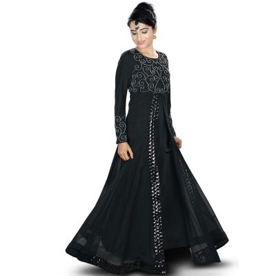 Womens Abaya Black Color Grand Walidah