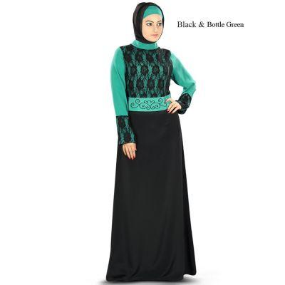 Womens Abaya Green Color Attractive
