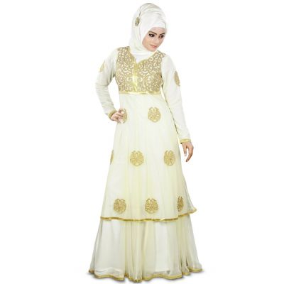 Womens Abaya Off White Color Casual wear