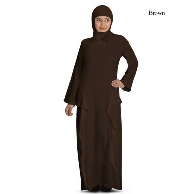 Womens Abaya Brown Color Attractive