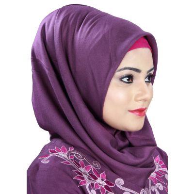 Purple color Designer-Rayon Hijab