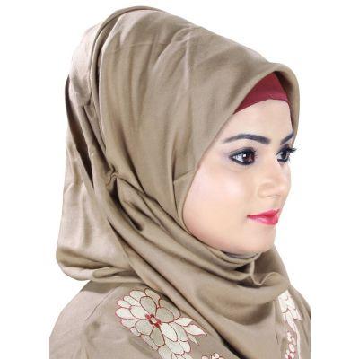 Beige color Designer-Rayon Hijab