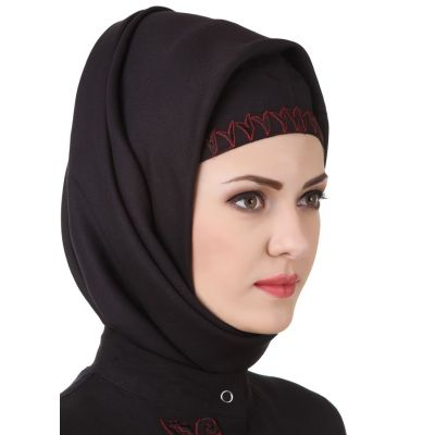 Black color Designer-Rayon Hijab