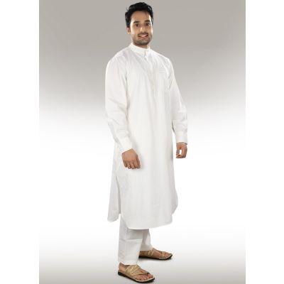 White color Kurta-Cotton Kurta