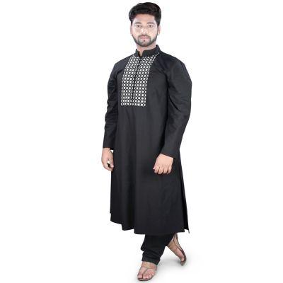 Black color Kurta-Cotton Kurta