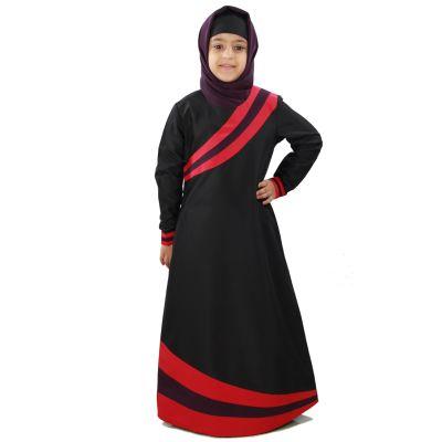 Black color Kid's-Kashibo Kid's Abaya