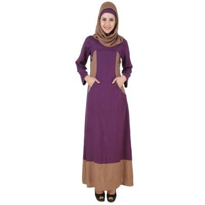 Womens Abaya Purple Color Daily wear