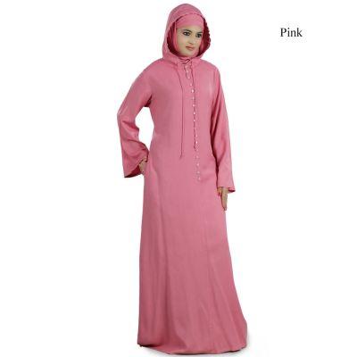 Womens Abaya Pink Color Attractive