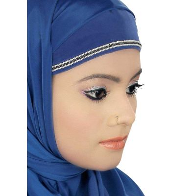 Blue color Designer-Crepe Hijab