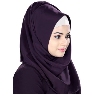 Purple color Designer-Kashibo Hijab