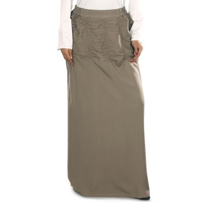 Brown color Skirt-Rayon Skirt