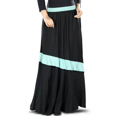 Black and Blue color Skirt-Rayon Skirt