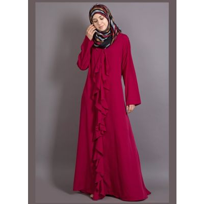 Womens Abaya Maroon Color Casual wear
