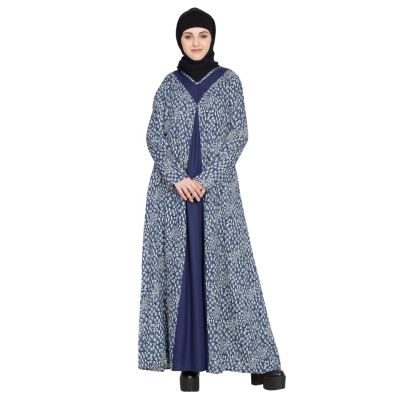 Womens Abaya Blue Color Designer wear