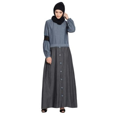 Womens Abaya Blue & Black Color Casual wear
