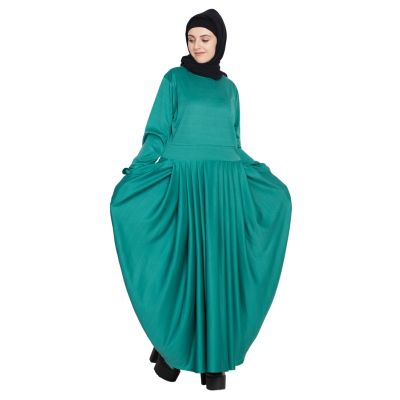 Womens Abaya Green Color Fancy
