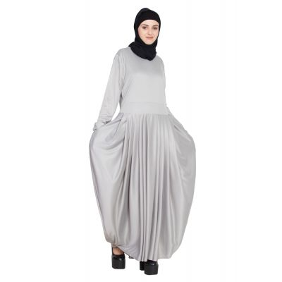 Womens Abaya Grey Color Attractive