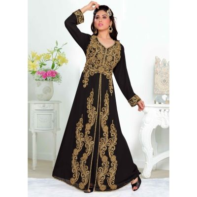 Black color-Georgette Kaftan