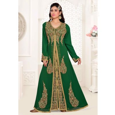 Green color-Georgette Kaftan