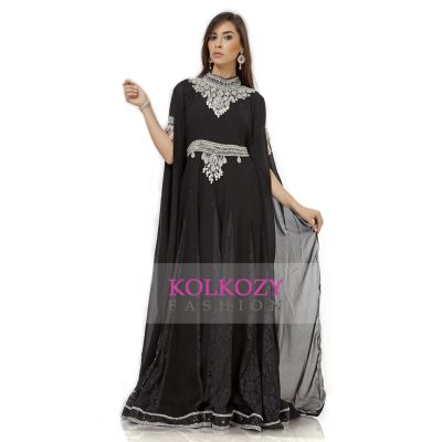 Marvelous Black Traditional Embroidered Caftan