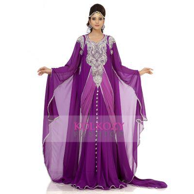 Classy Purple Color Designer Arabic Kaftan Dress