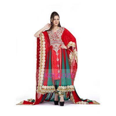 Red color Exclusive Kaftans-Georgette Designer Kaftan