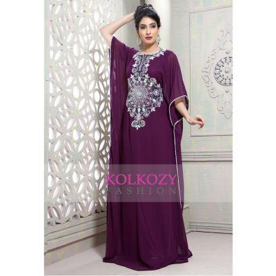 Tantalizing Purple partywear Caftan