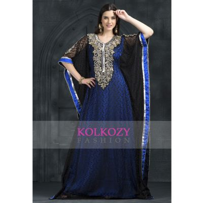 Black and Blue color Kaftan-Georgette Kaftan