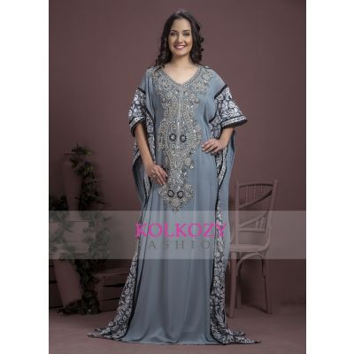 Gray color Kaftan-Georgette Kaftan