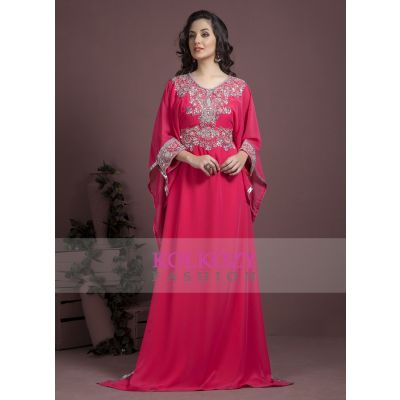 Pink color Kaftan-Georgette Kaftan