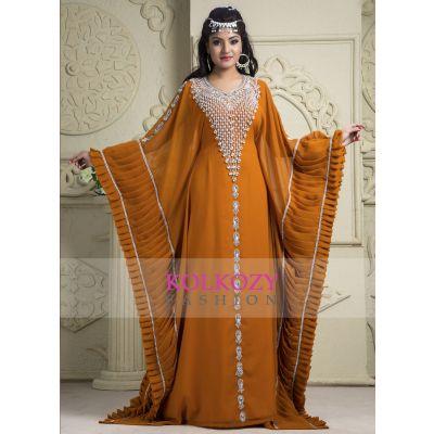 Orange color Kaftan- Party-Wear Georgette Kaftan